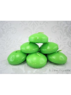 ŚWIECA DYSK PŁYWAJĄCY zielone jabłuszko