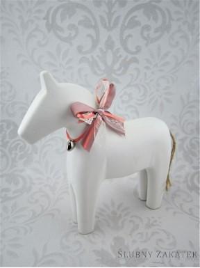 FIGURKA Koń, biały