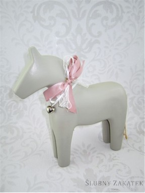 FIGURKA Koń, popielaty