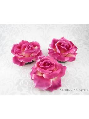 KWIATY SZTUCZNE Róże pływające, różowe