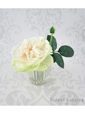 KWIATY SZTUCZNE Róże w wazoniku