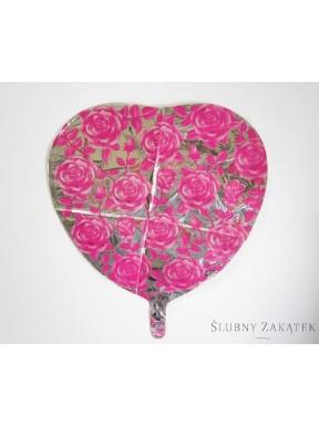 BALON FOLIOWY Różowe Róże
