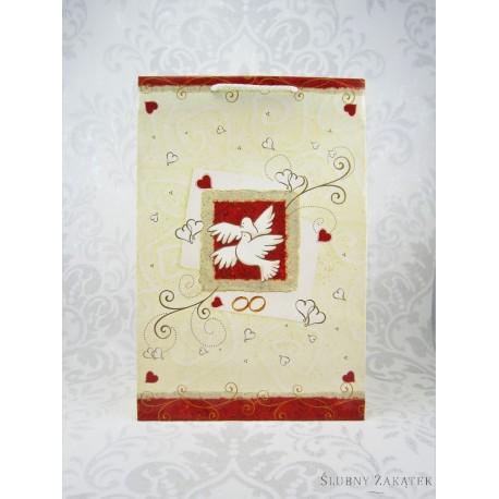 ea05bdac6f131c TOREBKA NA PREZENTY ŚLUBNE Gołąbki - upominki na ślub wesele dekoracje