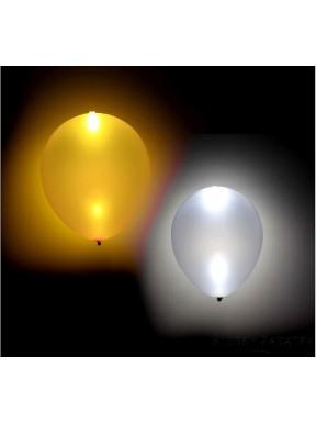 BALONY ŚWIECĄCE LED srebrne - złote, 4 szt