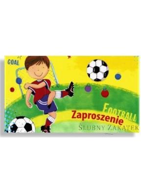 ZAPROSZENIE DZIECIĘCE URODZINOWE Chłopiec z piłką