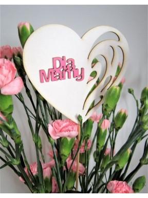 NAPIS DREWNIANY Dla Mamy, serce