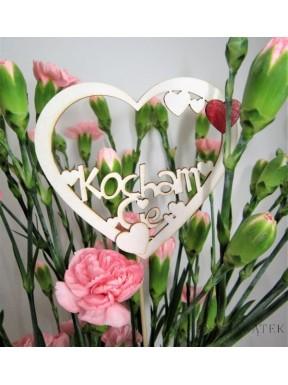 NAPIS DREWNIANY Kocham Cię, serce
