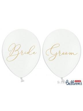 "BALONY "" Bride"", "" Groom"", zestaw"