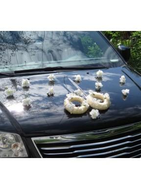 Dekoracja samochodu Dwie Obrączki