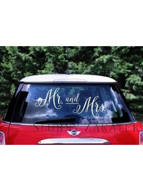 NAKLEJKI NA SAMOCHÓD Mr. and Mrs.