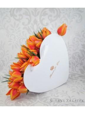 PUDEŁKO OZDOBNE FLOWER BOX Serce, białe