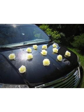 DEKORACJA NA SAMOCHÓD Różyczki żółte, na przyssawkach