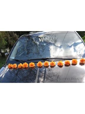 DEKORACJA NA SAMOCHÓD Goździki pomarańczowe, na przyssawkach
