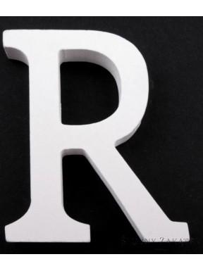 """LITERKI DREWNIANE """"R"""", białe"""