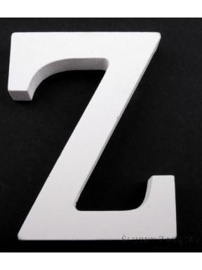 """LITERKI DREWNIANE """"Z"""", białe"""