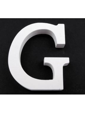 """LITERKI DREWNIANE """"G"""", białe"""