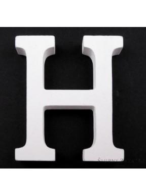 """LITERKI DREWNIANE """"H"""", białe"""