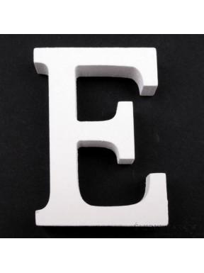 """LITERKI DREWNIANE """"E"""", białe"""