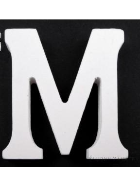 """LITERKI DREWNIANE """"M"""", białe"""