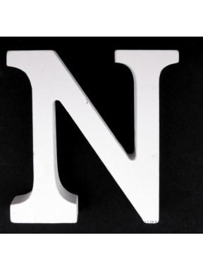 """LITERKI DREWNIANE """"N"""", białe"""