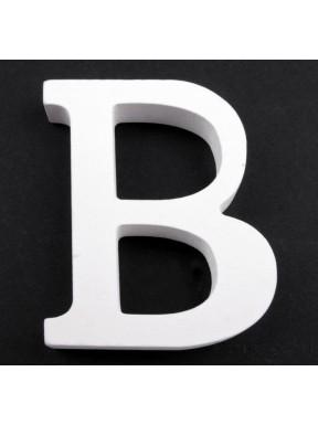 """LITERKI DREWNIANE """"B"""", białe"""