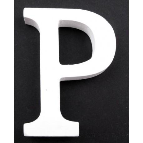 """LITERKI DREWNIANE """"P"""", białe"""