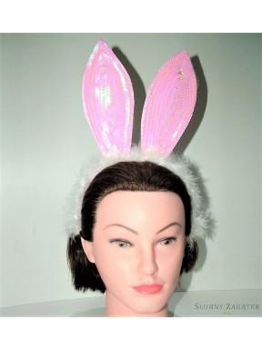 Uszy króliczka z cekinami