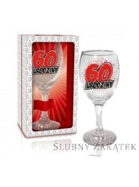 KIELISZEK DO WINA 60 urodziny