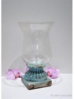 LAMPION NA PODEŚCIE Niebieski