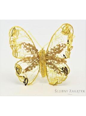 OZDOBA Motyl, złoty