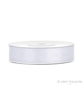 TASIEMKA SATYNOWA 12mm 25m, biała