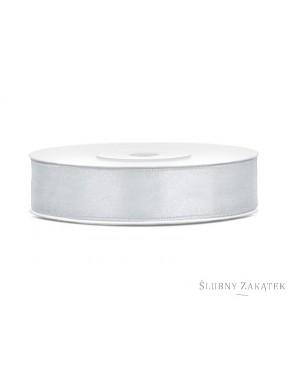 TASIEMKA SATYNOWA 12mm 25m, srebrna
