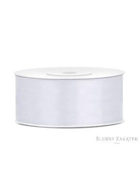 TASIEMKA SATYNOWA 25mm 25m, biała