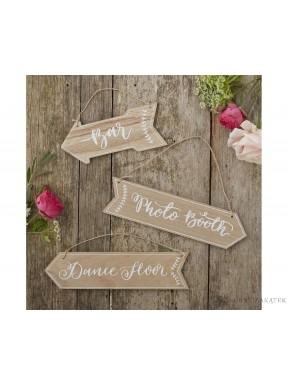 TABLICZKA DREWNIANA Przyjęcie weselne, duża