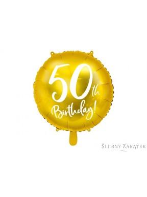 BALON FOLIOWY 40 urodziny, złoty