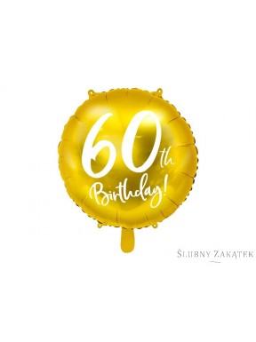 BALON FOLIOWY 50 urodziny, złoty