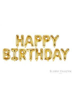 BALON FOLIOWY Happy Birthday, srebrny