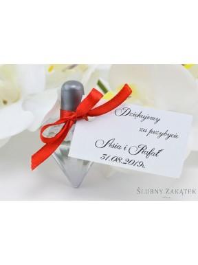 BAŃKI MYDLANE Serca personalizowane - podziękowanie dla gości