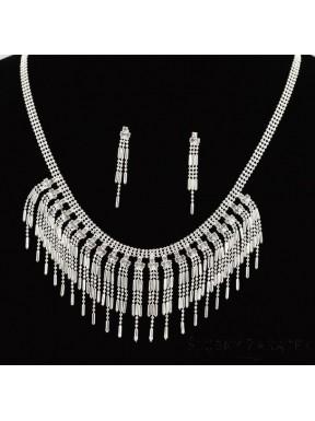 NASZYJNIK I KOLCZYKI - zestaw biżuterii sztucznej 00039