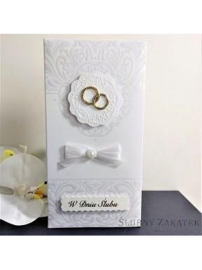 PUDEŁKO NA PIENIĄDZE W dniu ślubu, białe