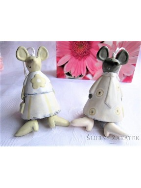 Myszki ceramiczne - dzwoneczek