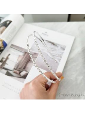 OZDOBA DO WŁOSÓW Opaska Ślubna 00025-1 z kryształkami