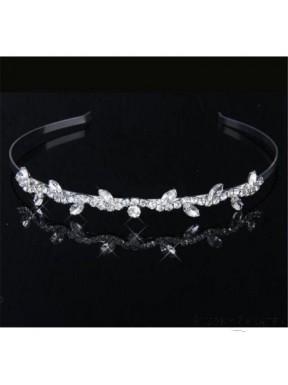 OZDOBA DO WŁOSÓW Opaska Ślubna 00025-5 z kryształkami