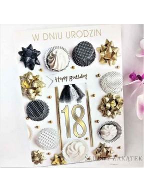 KARTKA URODZINOWA 18 Urodziny Balony