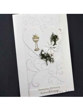KARTKA OKOLICZNOŚCIOWA Pamiątka Pierwszej Komunni Świętej 000089-9