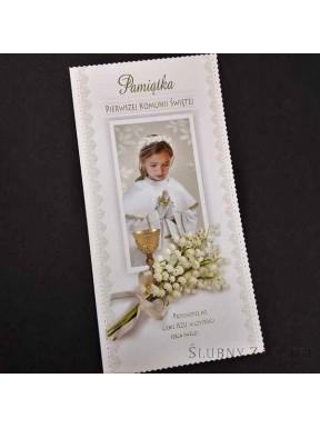 KARTKA OKOLICZNOŚCIOWA Pamiątka Pierwszej Komunni Świętej 000055-4