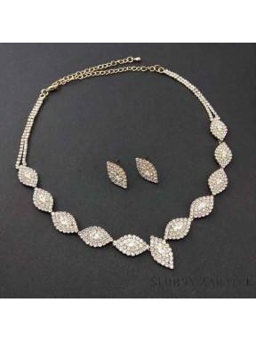 NASZYJNIK I KOLCZYKI - zestaw biżuterii sztucznej 00055-2