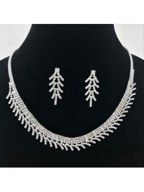 NASZYJNIK I KOLCZYKI - zestaw biżuterii sztucznej 00045-8