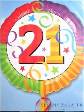 Balon urodzinowy 21
